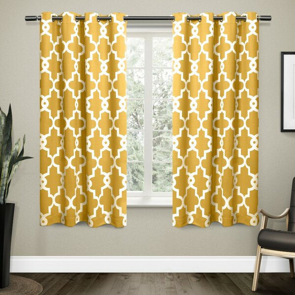 Modern Yellow Amp Gold Curtains Drapes Allmodern