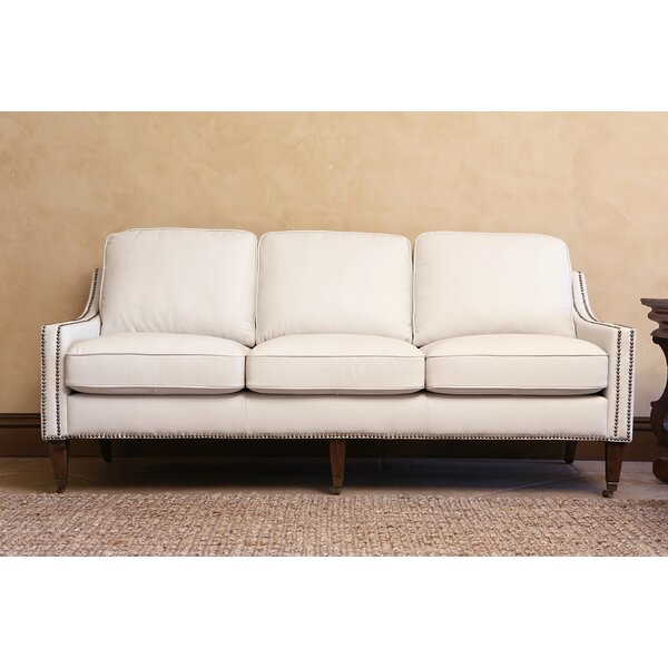 Darby Home Co Boneta Bonded Leather Sofa & Reviews | Wayfair