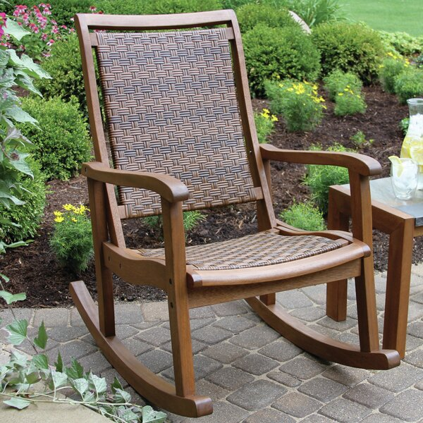 patio rocking chairs gliders you 39 ll love wayfair. Black Bedroom Furniture Sets. Home Design Ideas