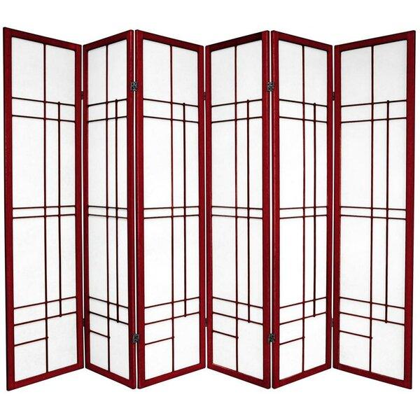 Oriental Furniture 70 25 X 84 Eudes Shoji 6 Panel Room Divider Reviews Wayfair