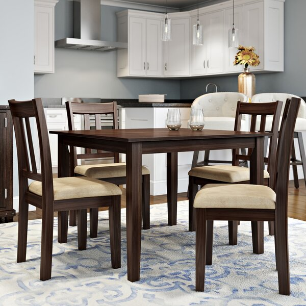kitchen amp dining room sets you ll love sofia vergara savona chocolate 5 pc rectangle dining room
