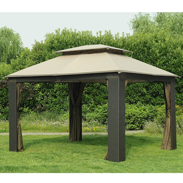 Sunjoy replacement canopy for antigua wicker gazebo for Antigua wicker chaise
