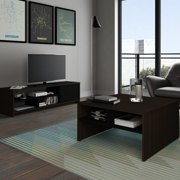 Bestar Small Space 2-Piece Storage Coffee Table and TV Stand Set   Wayfair - Bestar Small Space 2-Piece Storage Coffee Table And TV Stand Set