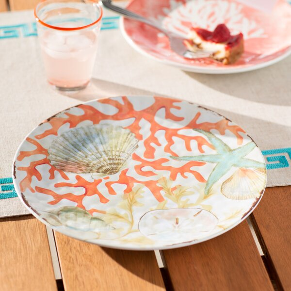 "Beachcrest Home™ Edenvale 10.5"" Melamine Dinner Plate & Reviews"
