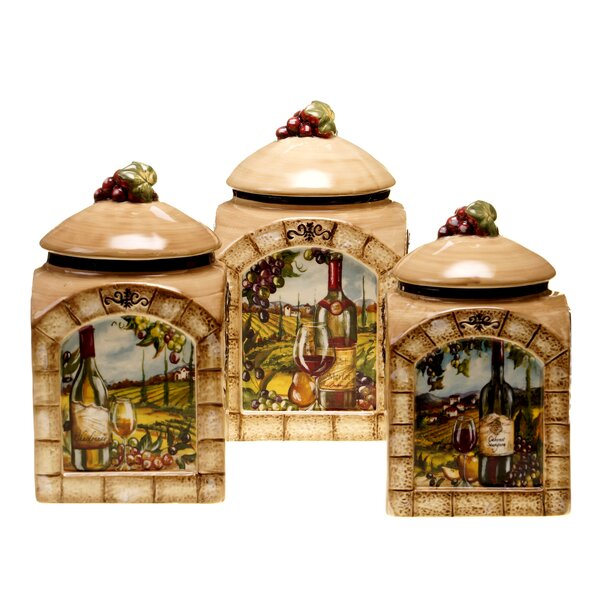 Janet 3 Piece Kitchen Canister Set