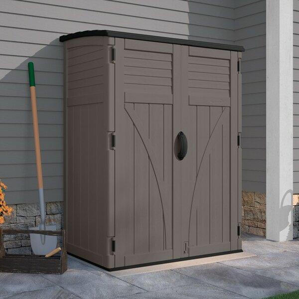 Storage No 2 Utility Storage: Suncast 4.4 Ft. W X 2.7 Ft. D Plastic Vertical Tool Shed