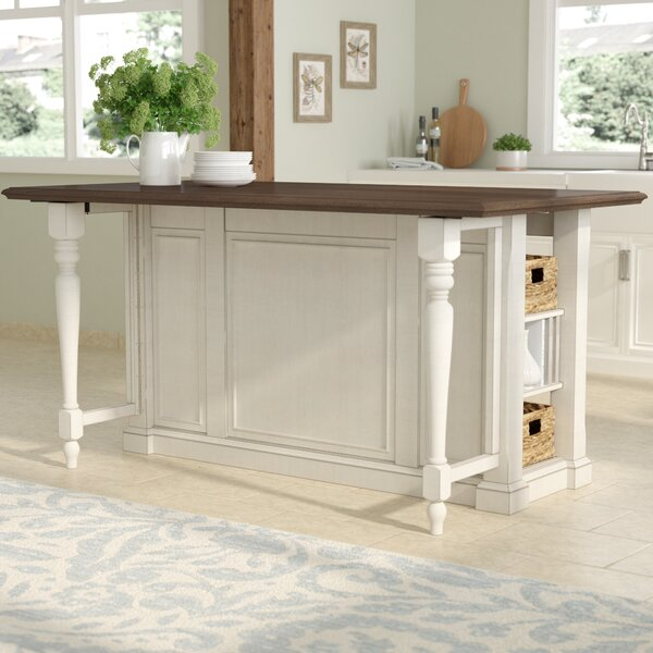August Grove Kitchen Island With Wood Top Amp Reviews