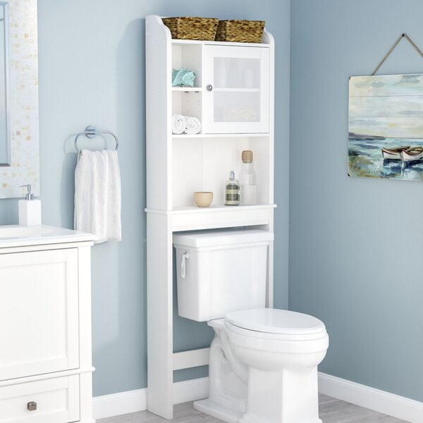 rebrilliant 23 5 w x 68 h over the toilet storage reviews wayfair. Black Bedroom Furniture Sets. Home Design Ideas