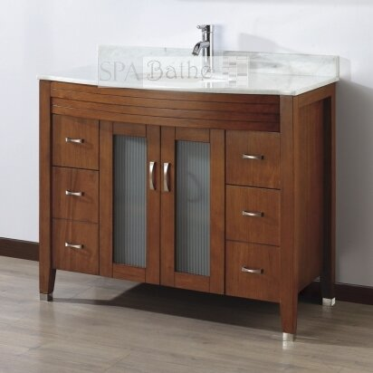 bauhaus bath alfa 42 single bathroom vanity set with. Black Bedroom Furniture Sets. Home Design Ideas