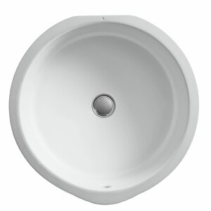 Verticyl Ceramic Circular Undermount Bathroom Sink with Overflow