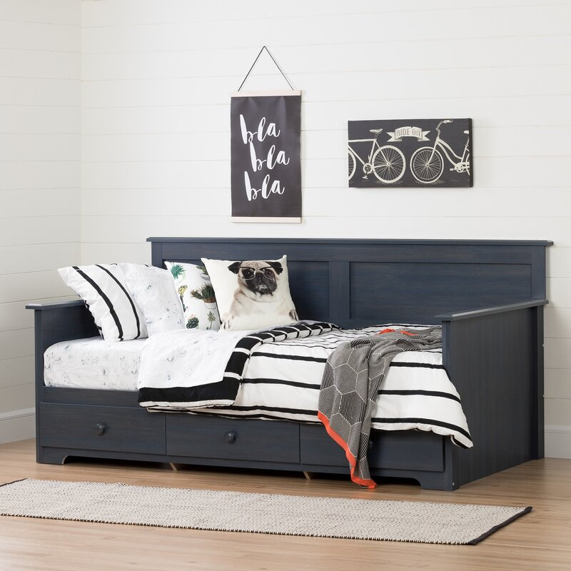 south shore summer breeze twin daybed with storage reviews. Black Bedroom Furniture Sets. Home Design Ideas