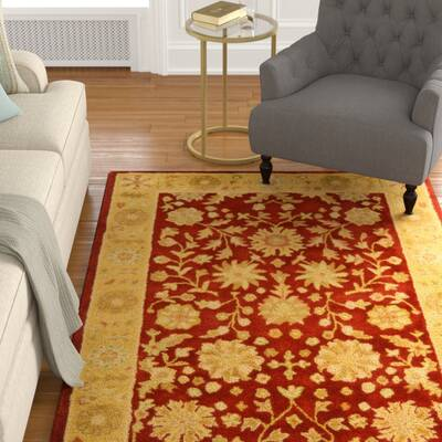 Balthrop Red Gold Fl Area Rug