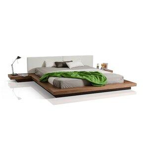 Carter Upholstered Platform Bed by Wade Logan