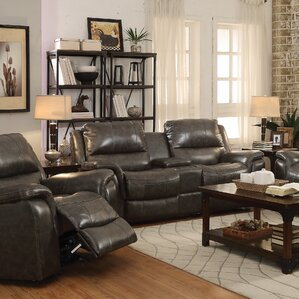 Bolander Leather Reclining Loveseat by Red Barrel Studio