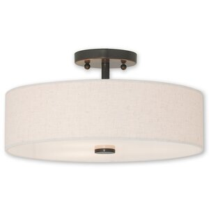 Alina 3-Light Semi Flush Mount