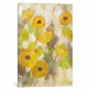 Yellow flower painting wayfair floating yellow flowers iii painting print on canvas mightylinksfo