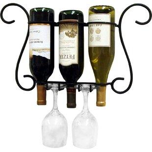 Birmingham 3 Bottle Wall Mounted Wine Rack