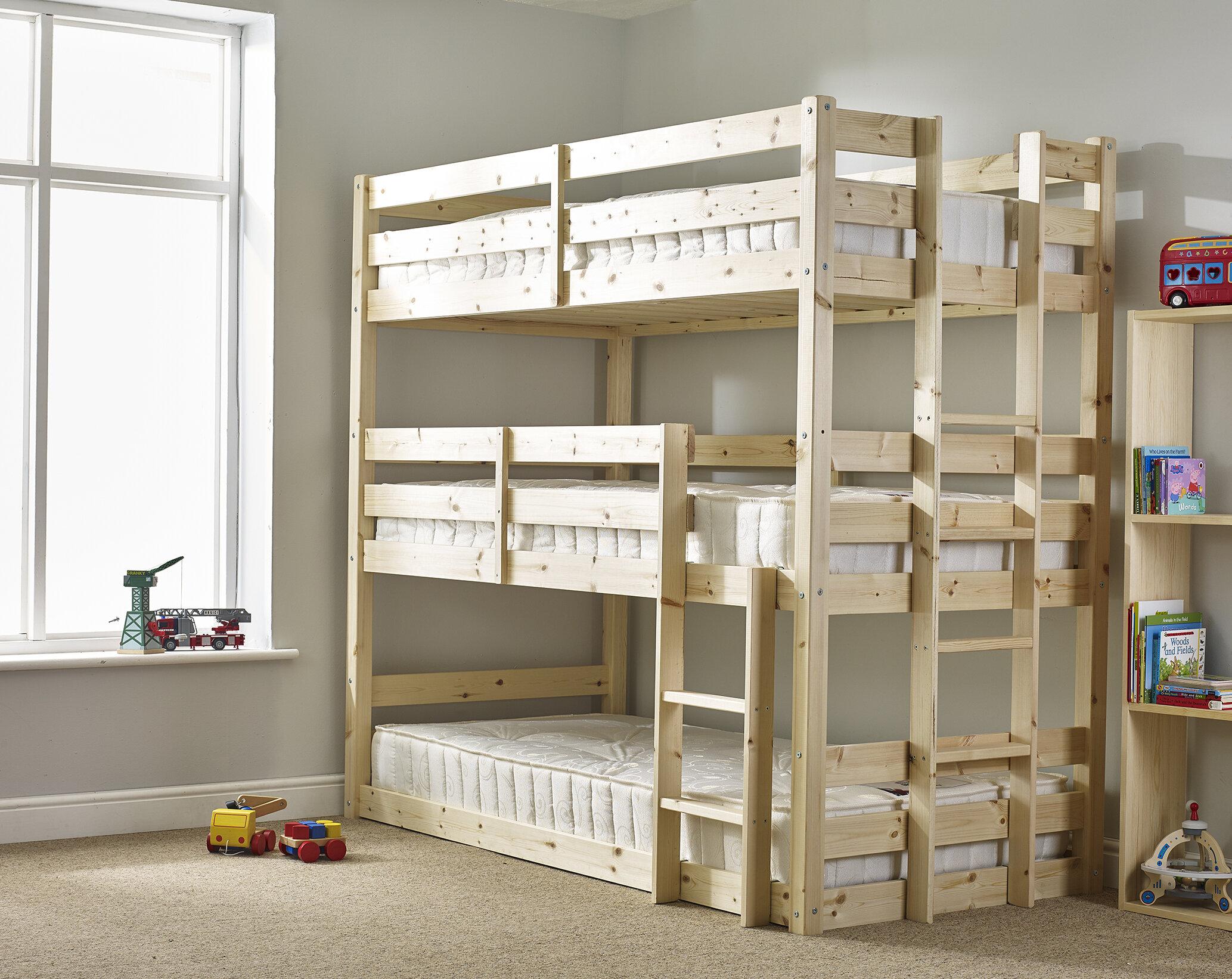 Just Kids Derby 3 Tier Triple Sleeper Bunk Bed Reviews Wayfair Co Uk