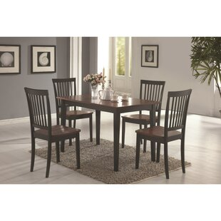 Pugh Sturdy Wooden 5 Piece Dining Set