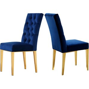 Woodland Velvet Parsons Chair (Set of 2) by Everly Quinn