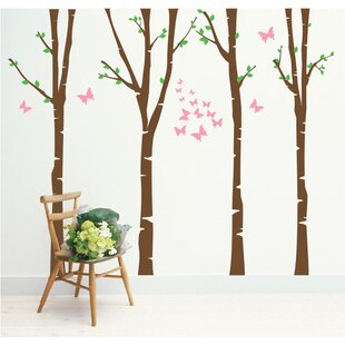 Birch Tree Wall Murals Wayfair