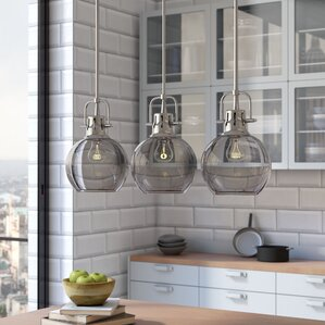 Burner 3-Light Kitchen Island Pendant & Kitchen Island Lighting Youu0027ll Love | Wayfair azcodes.com