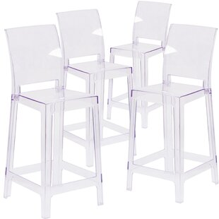 Darchelle Counter Bar Stool With Square Back Set Of 4