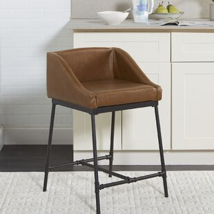 Seidel Industrial Pipe Square 24 Bar Stool
