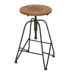 Adjustable Height Bar Stool by Woodland Imports