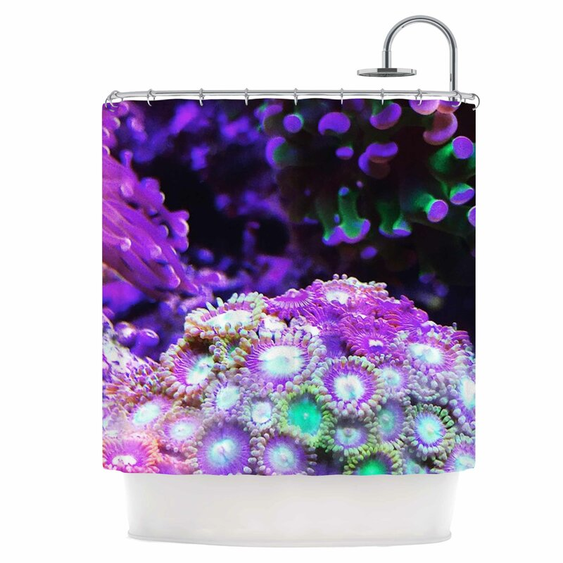 East Urban Home Coral Reef Shower Curtain
