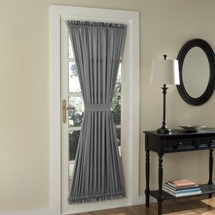 Groton Solid Room Darkening Door Panel Thermal Rod Pocket Single Curtain