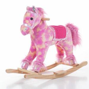Pink Plush Rocking Pony