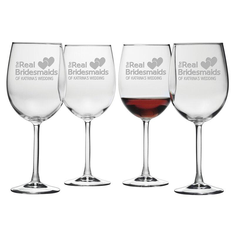 7561f856609 Susquehanna Glass Real Bridesmaids 19 oz. Red Wine Glass | Wayfair
