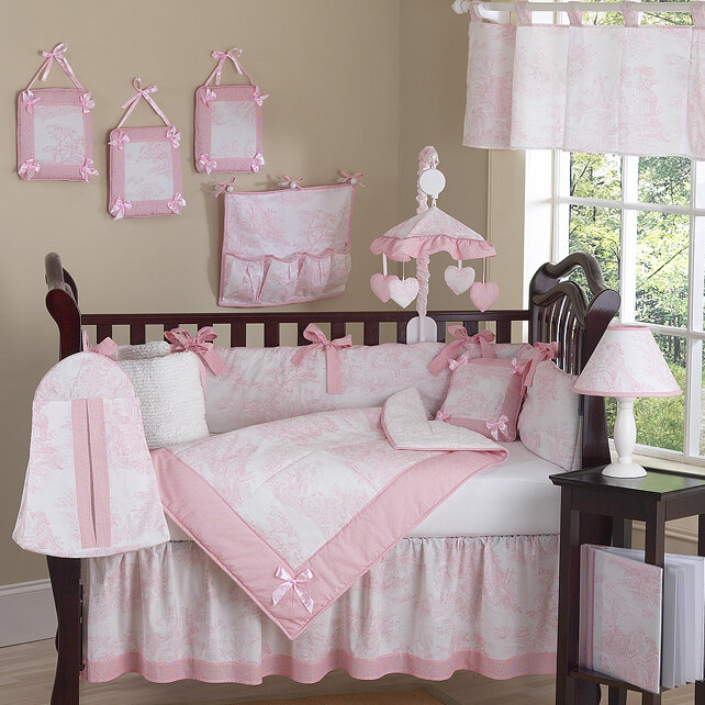 49158cd6e3f2f Sweet Jojo Designs Toile 9 Piece Crib Bedding Set   Reviews