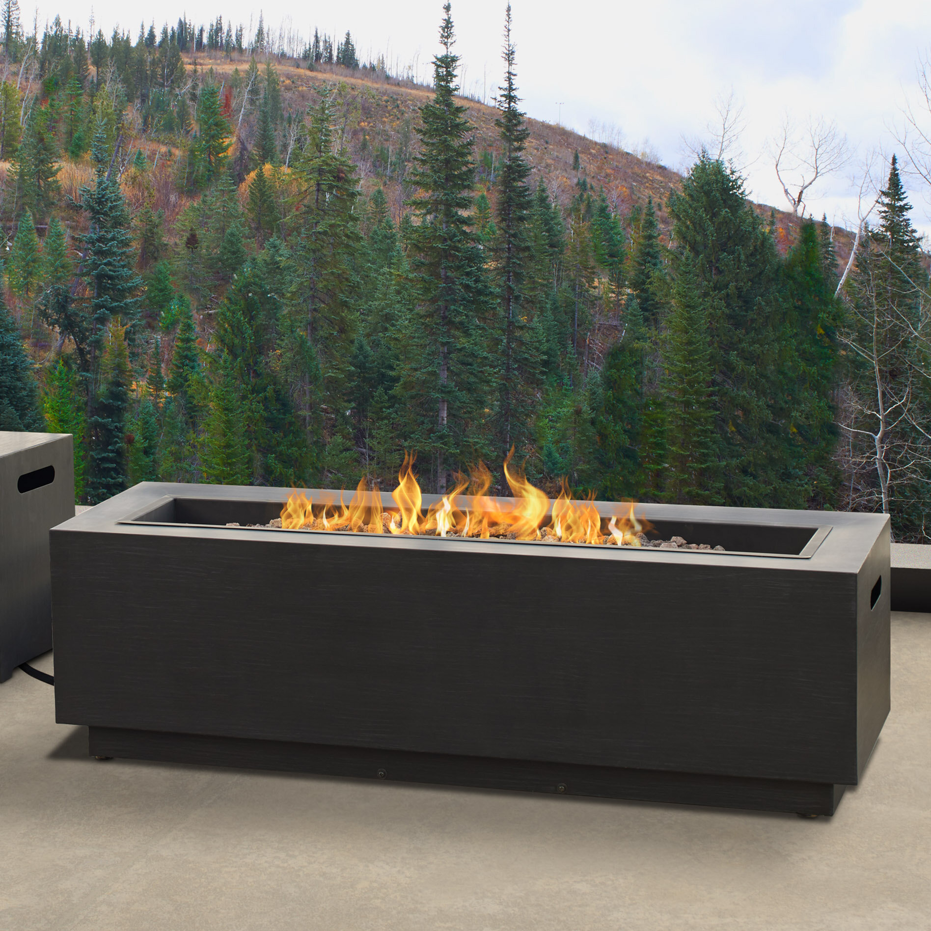Real Flame Lanesboro Rectangle Steel Propane Natural Gas Fire Pit Reviews Wayfair