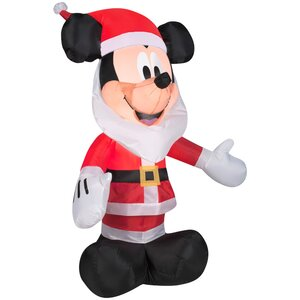 Airblown Mickey Mouse with Santa Beard Inflatable