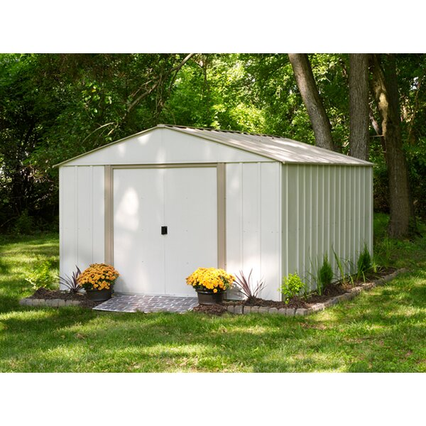 arrow oakbrook 10 ft 3 in w x 13 ft 7 in d metal storage shed reviews wayfair - Garden Sheds 7 X 3