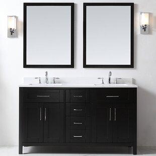 Vanity Art 60 Double Bathroom Vanity Set With Mirror