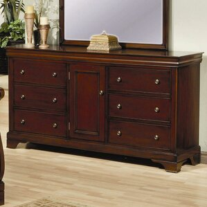 6 Drawer Dresser in Deep Mahogany Stain by Darby Home Co