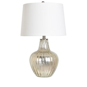 "Agatie Glass and Metal 25"" Table Lamp"