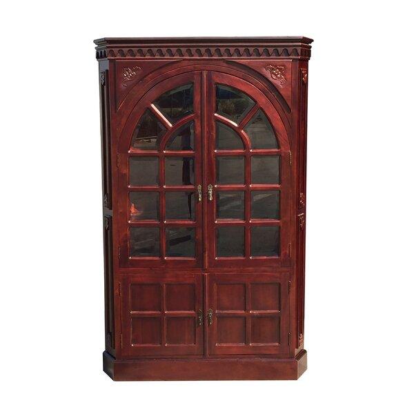 Astoria Grand Alim Victorian Corner Glass Accent Cabinet | Wayfair