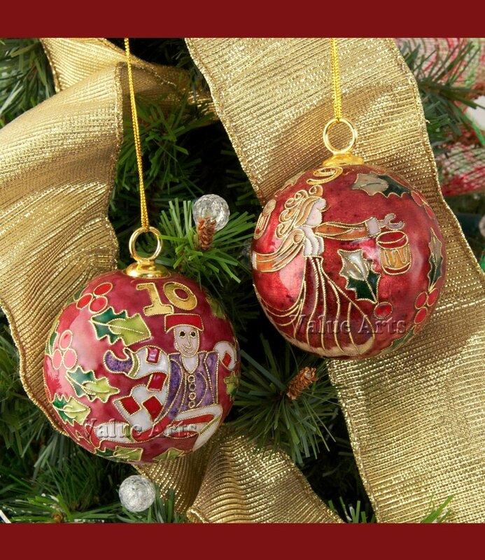 ValueArtsCompany Cloisonne 12 Days of Christmas Ball ...