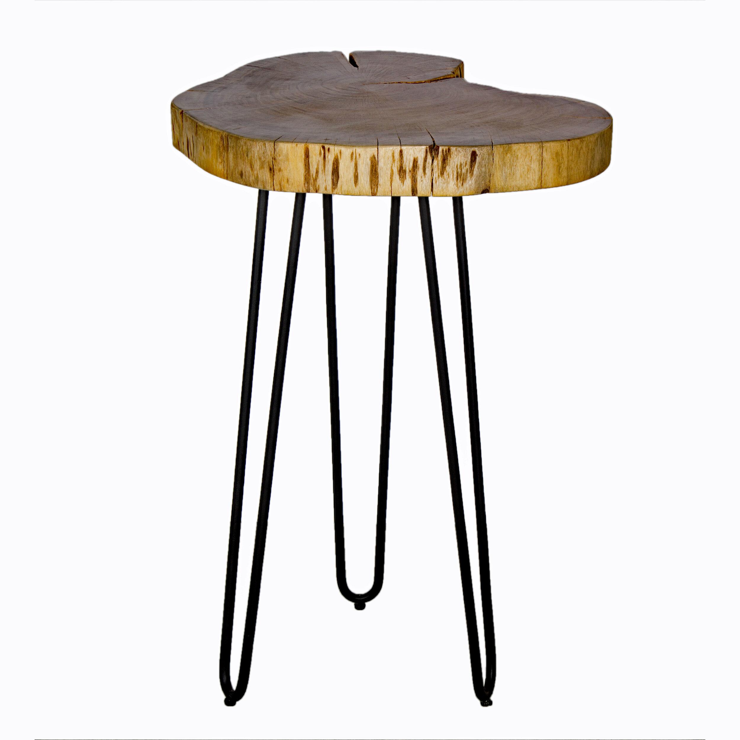 Incroyable Tindle Live Edge Hairpin End Table