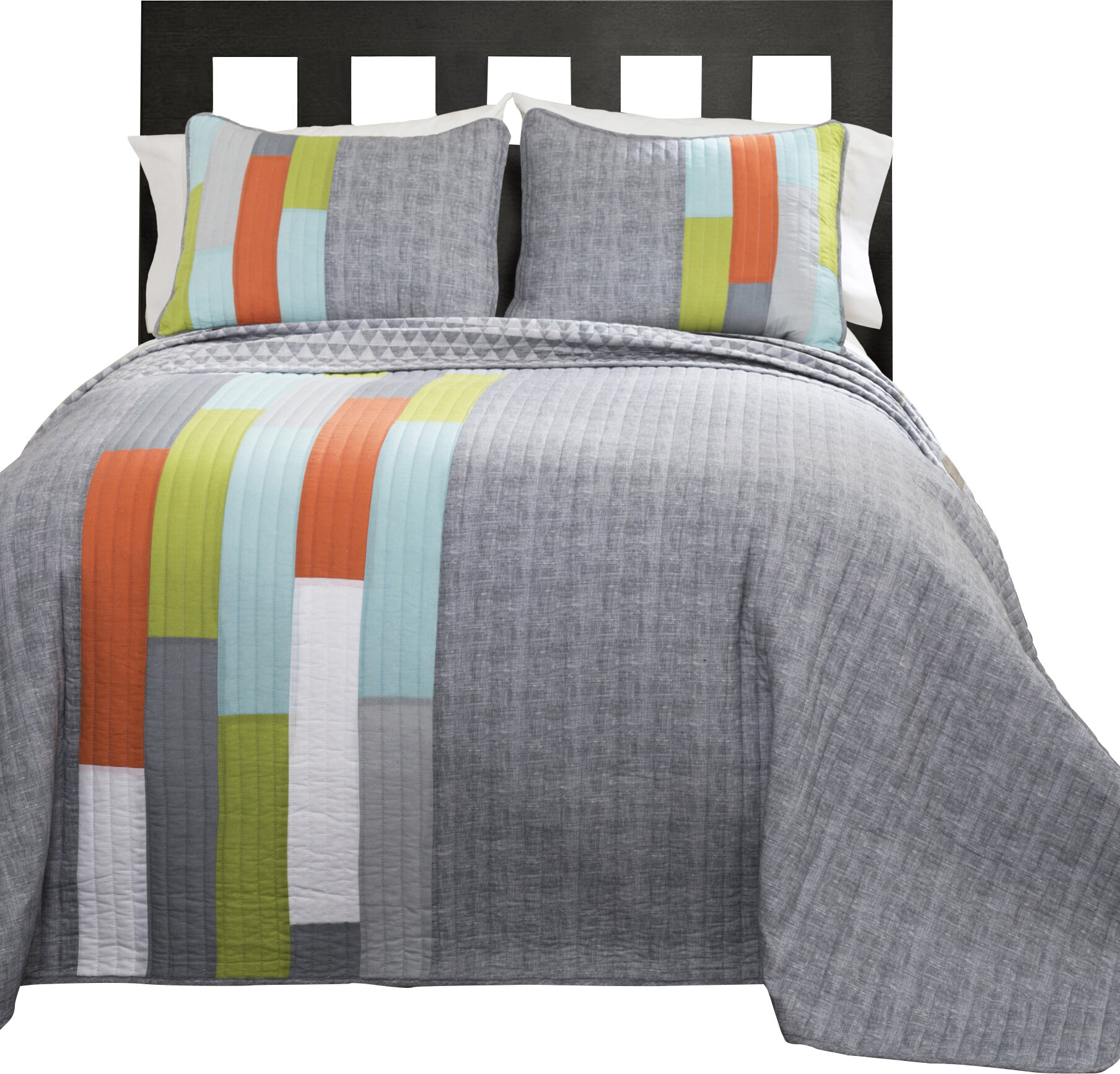 ramsey stripe quilt set reviews allmodern