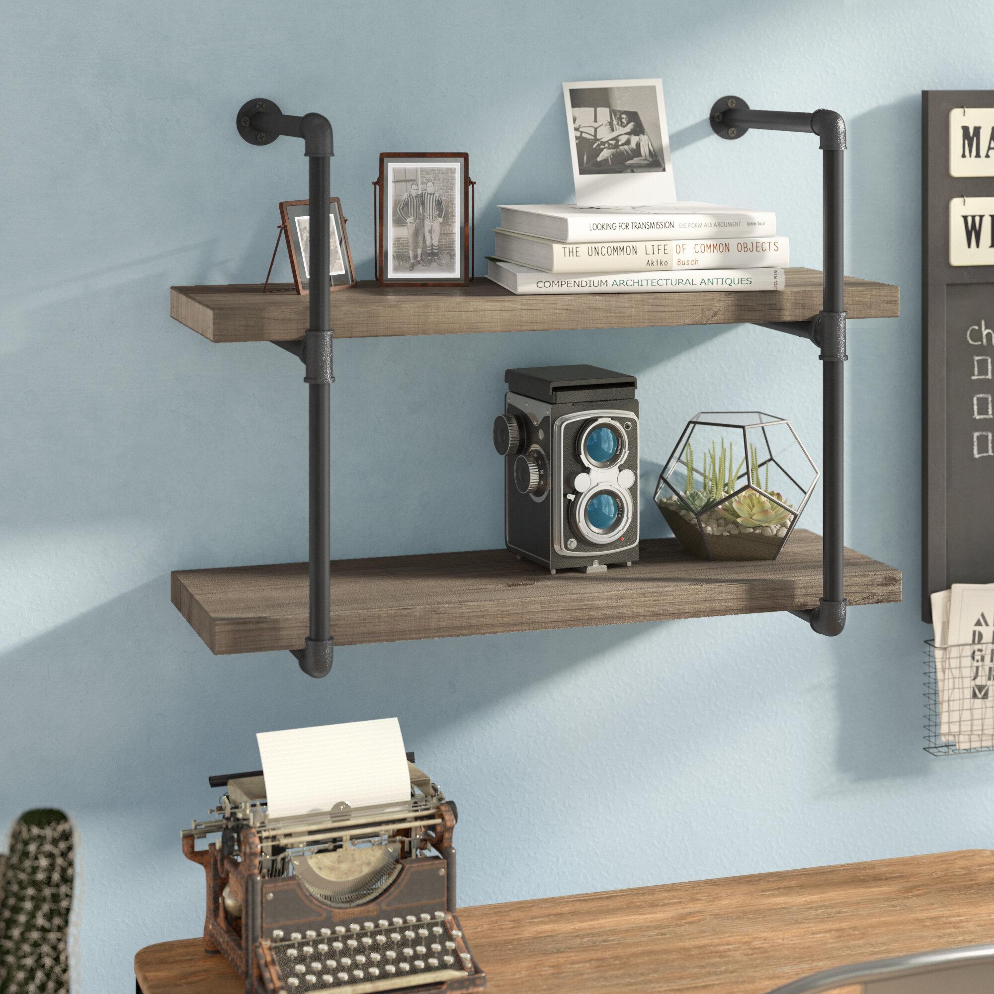 T Austin Design Wyndham 2 Pipe Wall Shelf Reviews Wayfair
