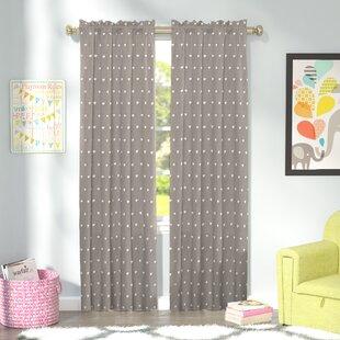 Dara Wildlife Blackout Thermal Rod Pocket Single Curtain Panel