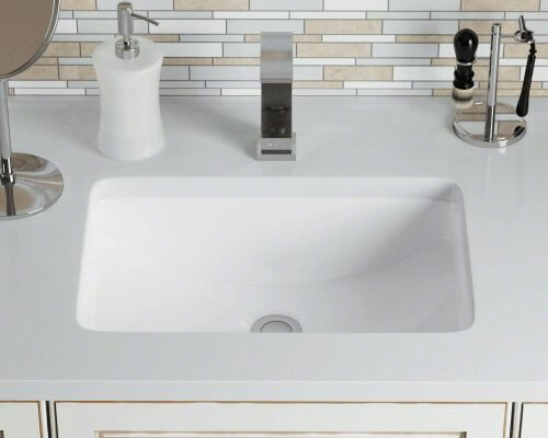Polaris Sinks Vitreous China Rectangular Undermount
