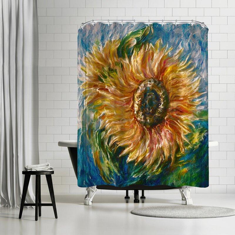 OLena Art Sunflower Shower Curtain