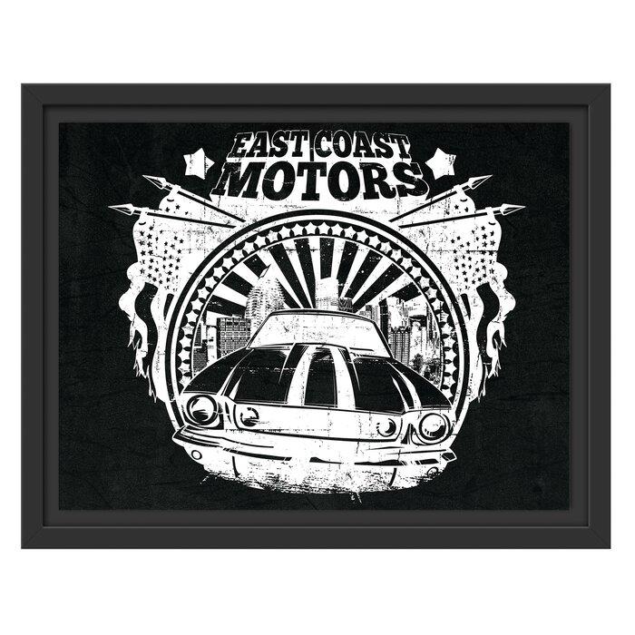 East Coast Motors >> East Coast Motors Framed Art Print In Black