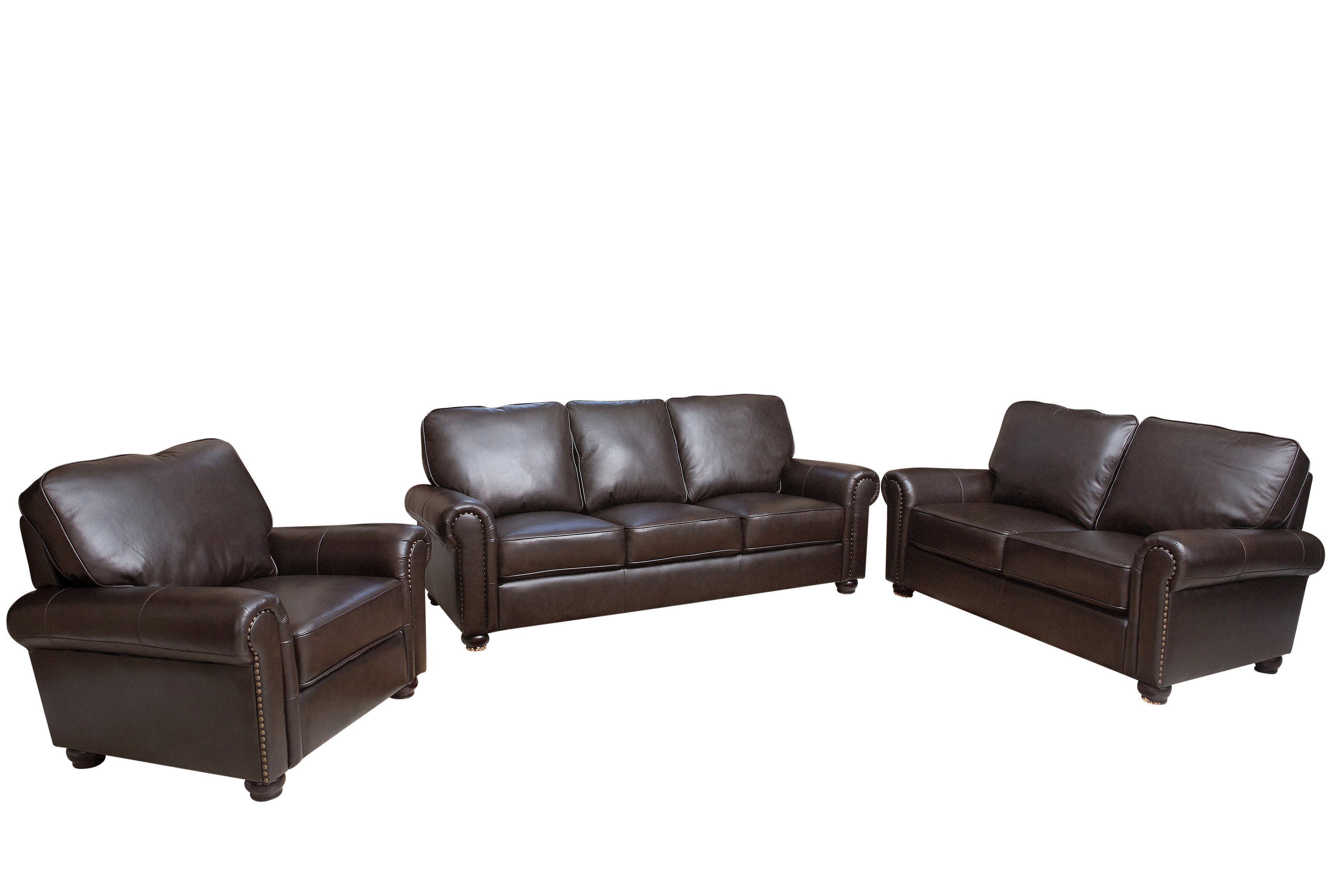 Darby Home Co Coggins 3 Piece Leather Living Room Set & Reviews ...